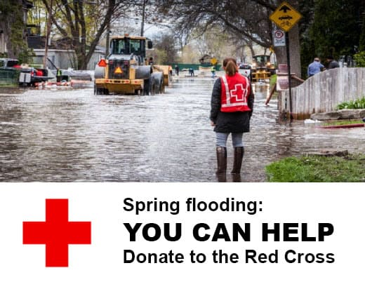 Help victims of spring flooding - donate to the Red Cross today.